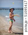 子 子供 ビーチの写真 51095417