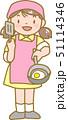 調理をする女の子 51114346