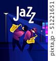 ジャズ 音楽 ベクトルのイラスト 51221651