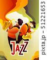 ジャズ ベクトル ブルースのイラスト 51221653