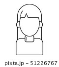 woman avatar cartoon character portrait in black and white 51226767