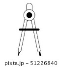 compass icon cartoon in black and white 51226840