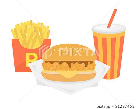 ハンバーガーセット 51287455