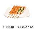 焼き鳥 焼鳥 肉料理のイラスト 51302742