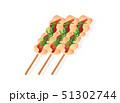 焼き鳥 焼鳥 肉料理のイラスト 51302744