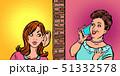 a woman overhears a neighbor 51332578