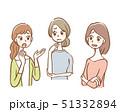 女性 愚痴 不満のイラスト 51332894