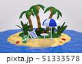 スライスされた地形の上にトロピカルビーチ。休暇に旅行のコンセプト. 51333578
