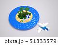 スライスされた地形の上にトロピカルビーチ。休暇に旅行のコンセプト. 51333579