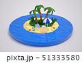 スライスされた地形の上にトロピカルビーチ。休暇に旅行のコンセプト. 51333580