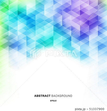 Abstract colorful hexagons pattern on white 51337900