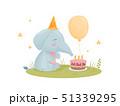 ゾウ 象 マンガのイラスト 51339295