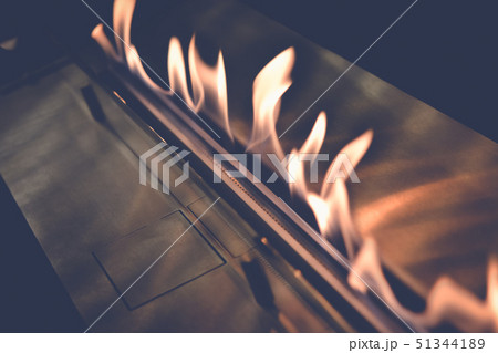 Modern bio fireplot fireplace on ethanol gas. 51344189