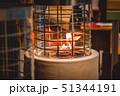 One Biofireplace burn on ethanol gas close-up. 51344191