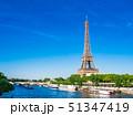 パリ エッフェル塔 セーヌ川の写真 51347419