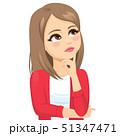 Thinking teenager woman looking away 51347471