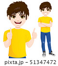 Teenager boy standing with arms crossed 51347472
