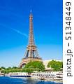 パリ エッフェル塔 セーヌ川の写真 51348449
