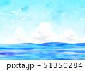 カモメと夏の海 51350284