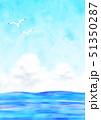 カモメと夏の海 51350287