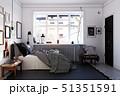 scandinavian style bedroom interior. 51351591