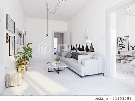 modern  living interior design. 51351598
