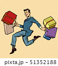 man businessman with gifts shopping 51352188