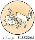 Ballerina milking a goat. Farm animals 51352208