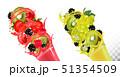 セイヨウヤブイチゴ ブラックベリー 西洋藪苺のイラスト 51354509