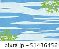 青紅葉 和柄 和紙のイラスト 51436456
