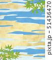 青紅葉 和柄 和紙のイラスト 51436470