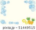 フレーム 水彩風 果物のイラスト 51449515