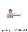 漁船と漁師のおじさん 51502561