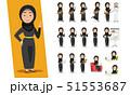 アラブのビジネスウーマン 51553687
