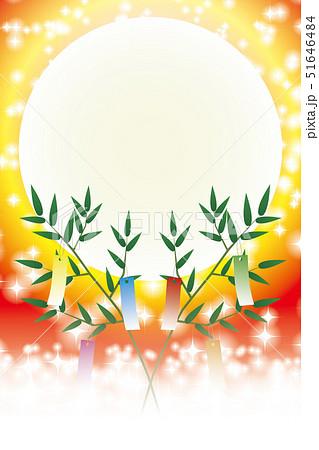 和風素材 七夕祭り 伝統 短冊 竹飾り 夏 天の川 星空 キラキラ 七月 イラスト 無料 夜空 背景のイラスト素材