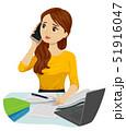 10代 電話をする 呼ぶのイラスト 51916047