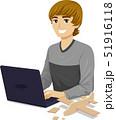 男 ベクトル テクノロジーのイラスト 51916118