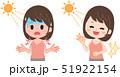 日焼け 女性 日焼け止めのイラスト 51922154