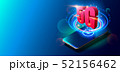 5G Technology and Mobile Networks Concept on Colorful Background. 52156462