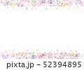 水彩 フレーム 水玉のイラスト 52394895