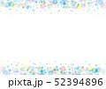 水彩 フレーム 水玉のイラスト 52394896
