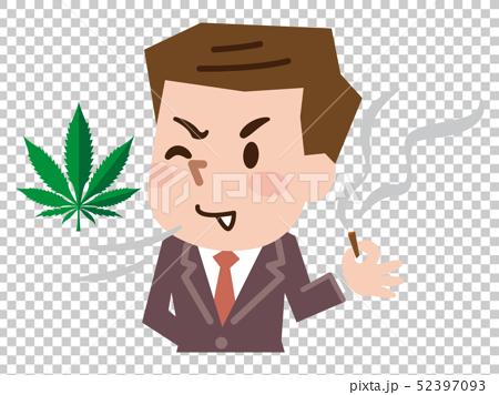 大麻を吸う男性 52397093