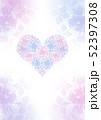 ハート形の紫陽花のブーケ グラデーション背景 縦構図 52397308