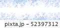 紫陽花のフレーム 横長 青 52397312