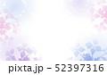紫陽花のシルエット グラデーション背景 52397316
