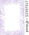 紫陽花のフレーム 縦構図 紫色 52397317