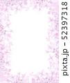 紫陽花のフレーム 縦構図 ピンク色 52397318