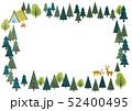 森のフレーム 四角 横長 52400495