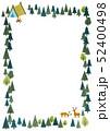 森のフレーム 四角 52400498