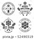 Set of Honey bee farm badge. Vector. Concept for shirt, stamp or tee. Vintage typography design with 52490319